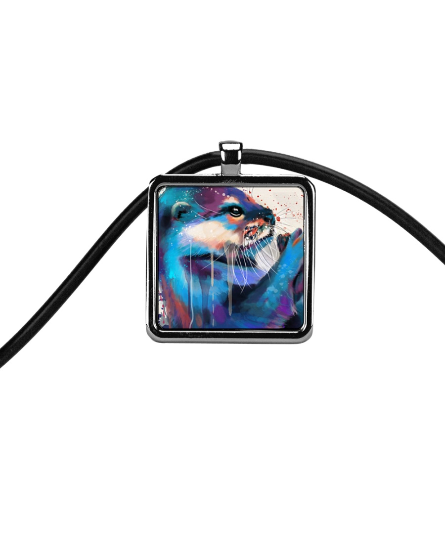 Poster Otter Cord Rectangle Necklace