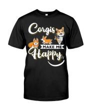Corgis Make Me Happy Classic T-Shirt thumbnail