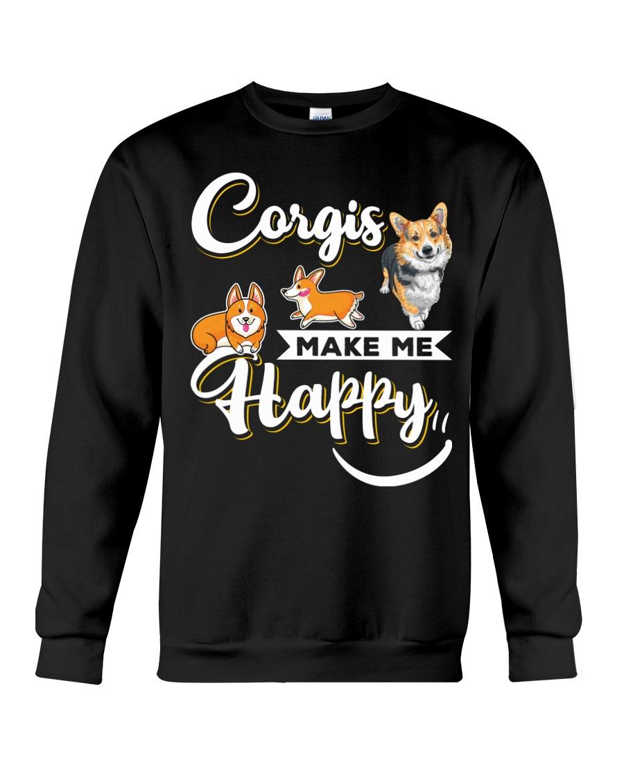 Corgis Make Me Happy Crewneck Sweatshirt
