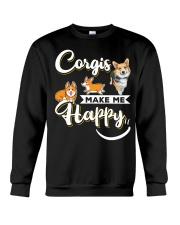 Corgis Make Me Happy Crewneck Sweatshirt front