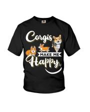Corgis Make Me Happy Youth T-Shirt thumbnail