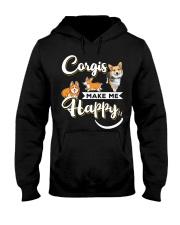 Corgis Make Me Happy Hooded Sweatshirt thumbnail
