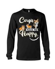 Corgis Make Me Happy Long Sleeve Tee thumbnail