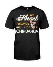 My Heart belongs to a Chihuahua Classic T-Shirt front