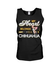 My Heart belongs to a Chihuahua Unisex Tank thumbnail