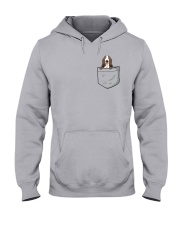 Pocket Basset Hound Hooded Sweatshirt thumbnail