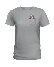 Pocket Basset Hound Ladies T-Shirt thumbnail