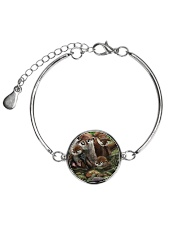 Family Otter Metallic Circle Bracelet tile