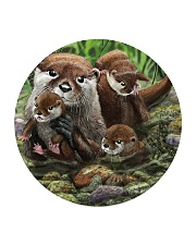 Family Otter Circle Coaster tile