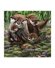 Family Otter Square Coaster tile