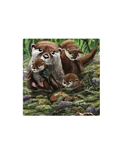 Family Otter Square Magnet tile