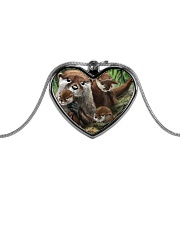 Family Otter Metallic Heart Necklace tile
