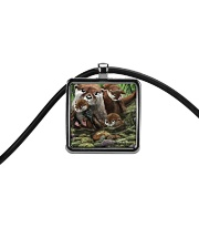 Family Otter Cord Rectangle Necklace tile