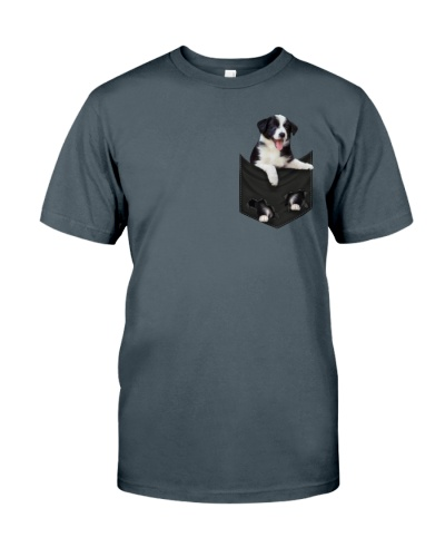 Border Collie In Pocket