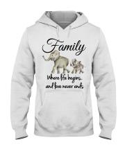 ELEPHANTS Hooded Sweatshirt front