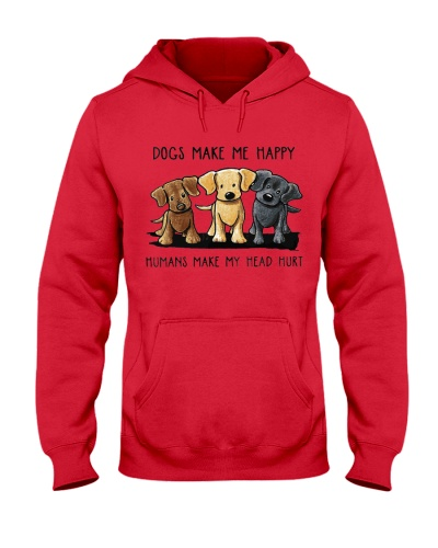 Hoodie White Dogs