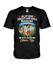 Autism Mom V-Neck T-Shirt thumbnail