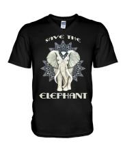 SAVE THE ELEPHANT V-Neck T-Shirt thumbnail