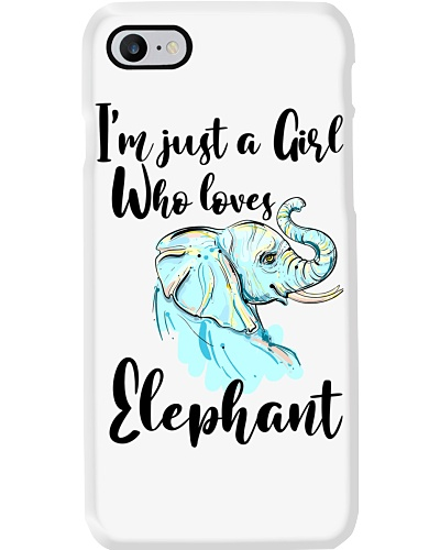 Im Just A Girl Who Loves Elephant