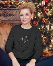 Cats Crewneck Sweatshirt lifestyle-holiday-sweater-front-2