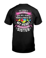 Autism Sister Classic T-Shirt back