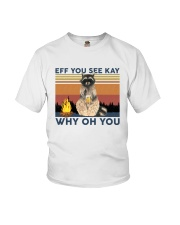 Camping Raccoon Eff you see kay Youth T-Shirt tile