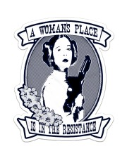Woman's place navy tumbler Sticker - Single (Vertical) thumbnail
