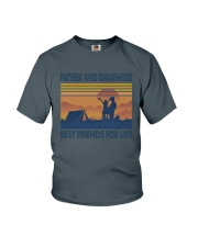 Camping Father Daughter Youth T-Shirt thumbnail