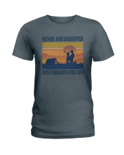 Camping Father Daughter Ladies T-Shirt thumbnail