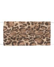 RBG leopard pattern Cloth face mask front