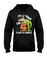 4 Birthday raw dinosaur Hooded Sweatshirt thumbnail