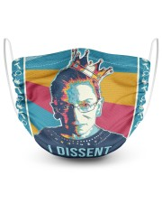 RBG retro I dissent 2 Layer Face Mask - Single front