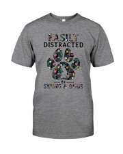 Skiing Easily distracted Classic T-Shirt thumbnail