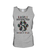 Skiing Easily distracted Unisex Tank thumbnail