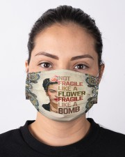 Frida Kahlo fragile mandala Cloth face mask aos-face-mask-lifestyle-01