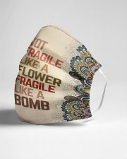 Frida Kahlo fragile mandala Cloth face mask aos-face-mask-lifestyle-21