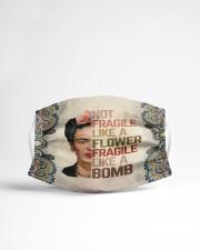 Frida Kahlo fragile mandala Cloth face mask aos-face-mask-lifestyle-22