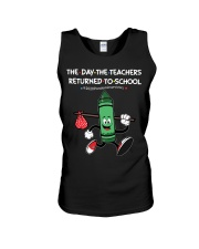 The Day The Teacher  To School Green Unisex Tank thumbnail