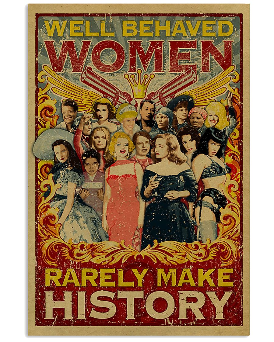 Retro well-behaved women canvas 11x17 Poster