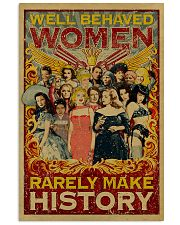 Retro well-behaved women canvas 11x17 Poster front