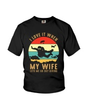 I love it Sky diving Youth T-Shirt thumbnail