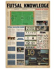 Futsal knowledge 11x17 Poster front