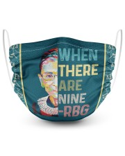 RBG when there are nine 2 Layer Face Mask - Single front