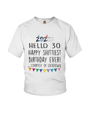 Hello 30 Happy  Youth T-Shirt thumbnail