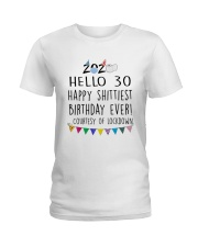 Hello 30 Happy  Ladies T-Shirt thumbnail
