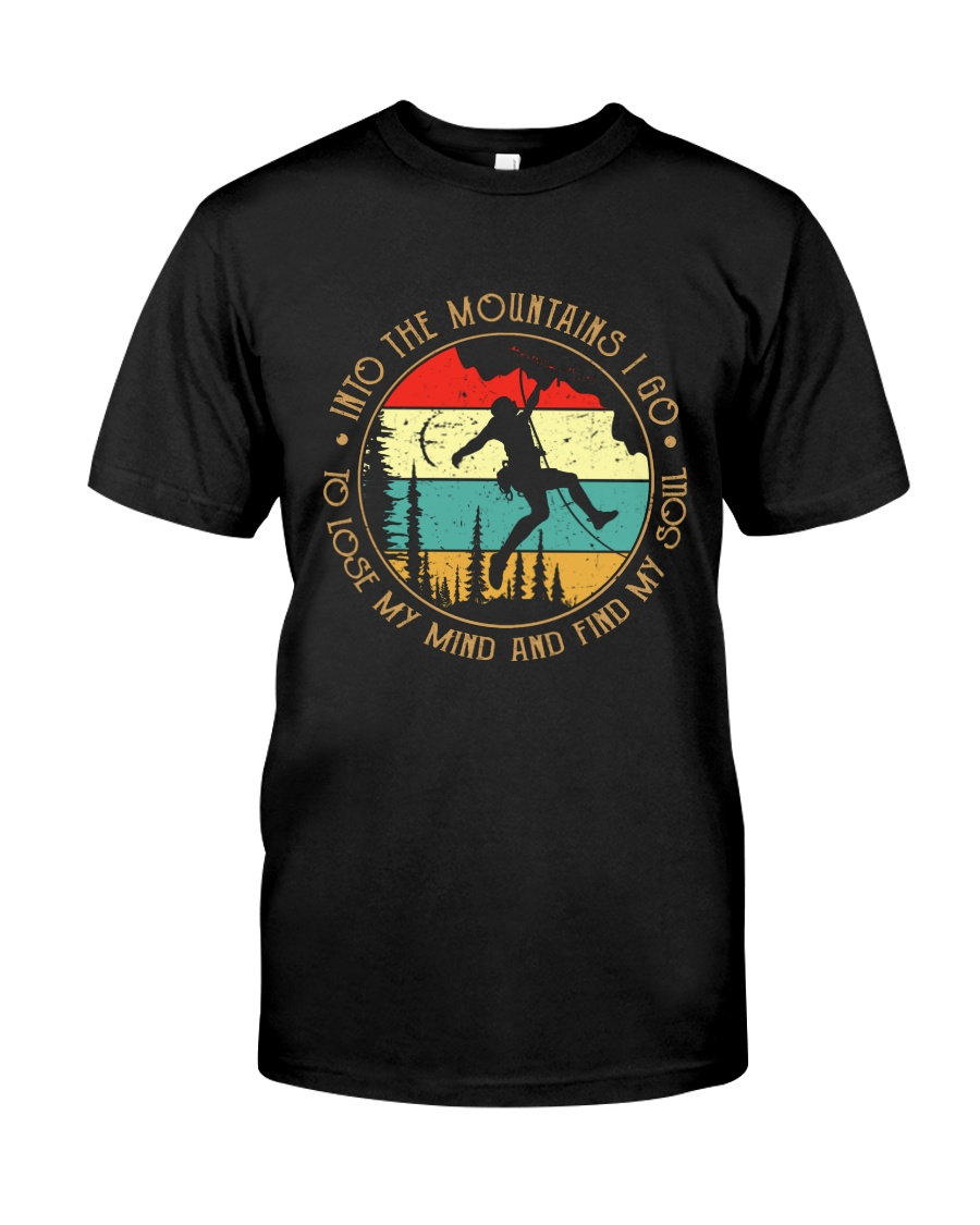 Rock Climbing into the moutains Classic T-Shirt