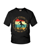 Rock Climbing into the moutains Youth T-Shirt thumbnail