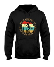 Rock Climbing into the moutains Hooded Sweatshirt thumbnail