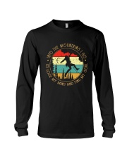 Rock Climbing into the moutains Long Sleeve Tee thumbnail