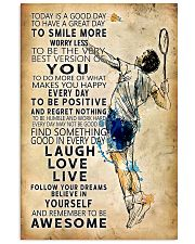 Badminton Today Is A Good Day 11x17 Poster front